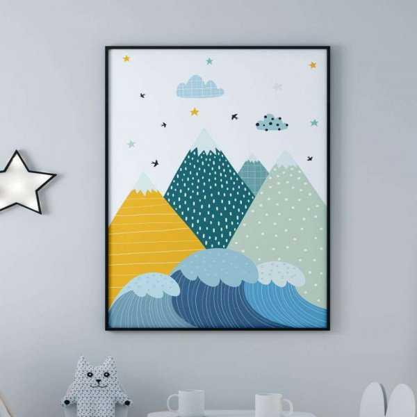 plakat mountains see