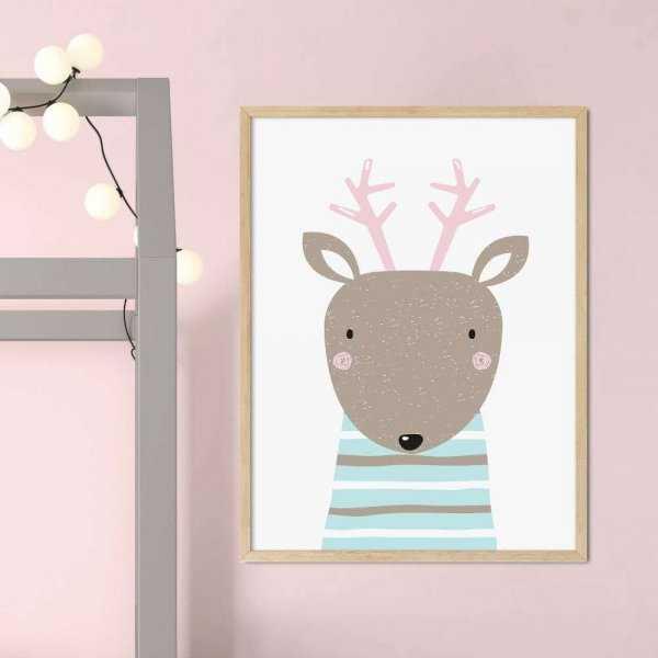plakat pastel deer