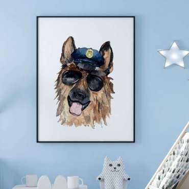 plakat police dog