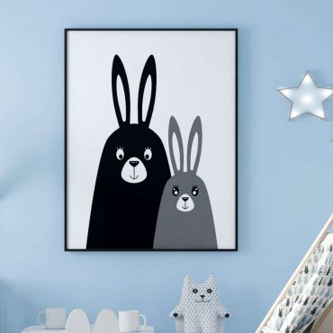 plakat rabbit party