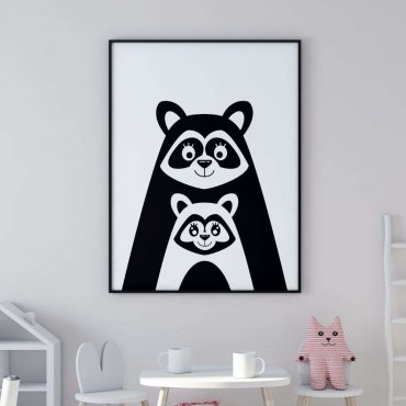 plakat raccoon love