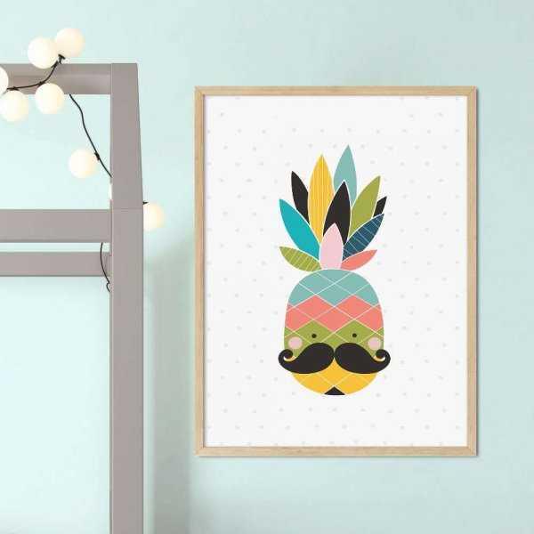 plakat rainbow ananas