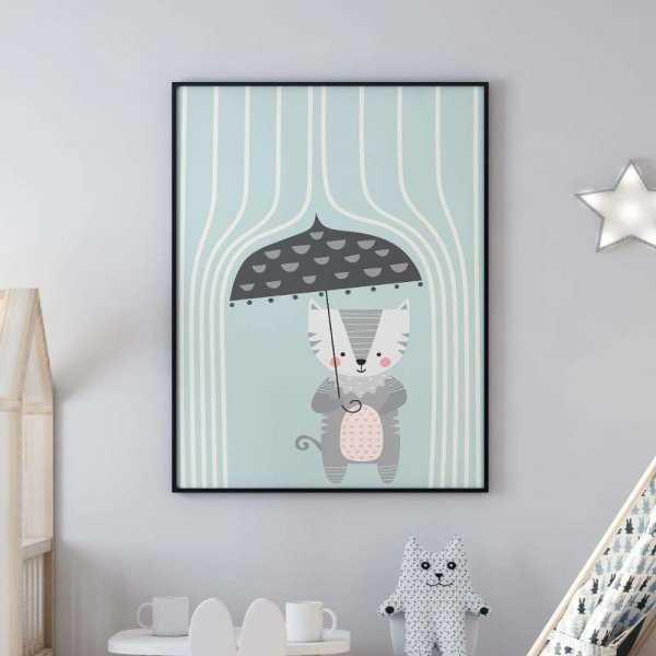 plakat rainy cat
