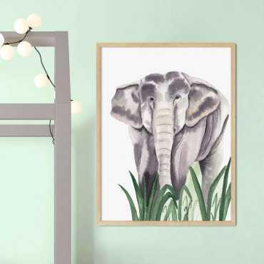 plakat safari elephant
