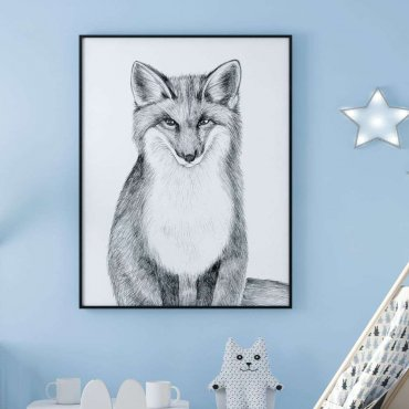 plakat sketchy fox