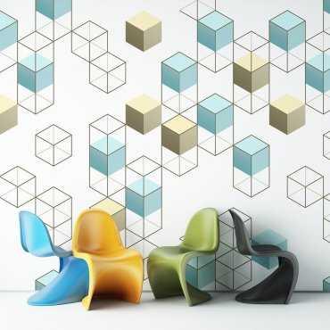 3D PLATFORM - Tapeta ścienna