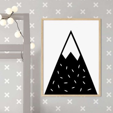 plakat snowy mountain