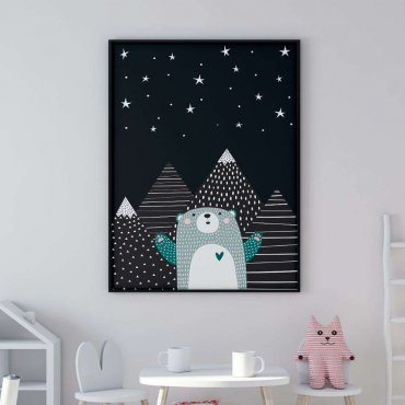 plakat starry bear