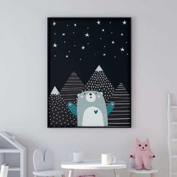 plakat starry bear