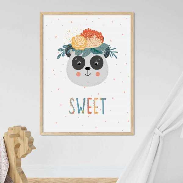 plakat sweet panda