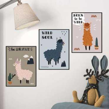 zestaw plakatów alpaka power