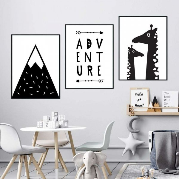 zestaw plakatów giraffe adventure