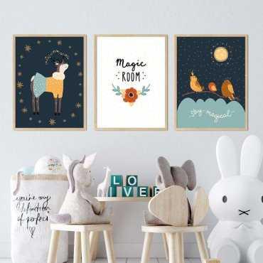 zestaw plakatów magic room