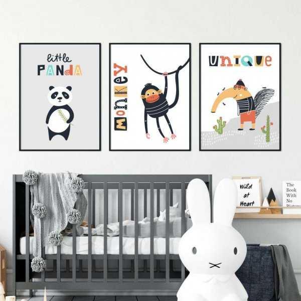 zestaw plakatów patchsafari