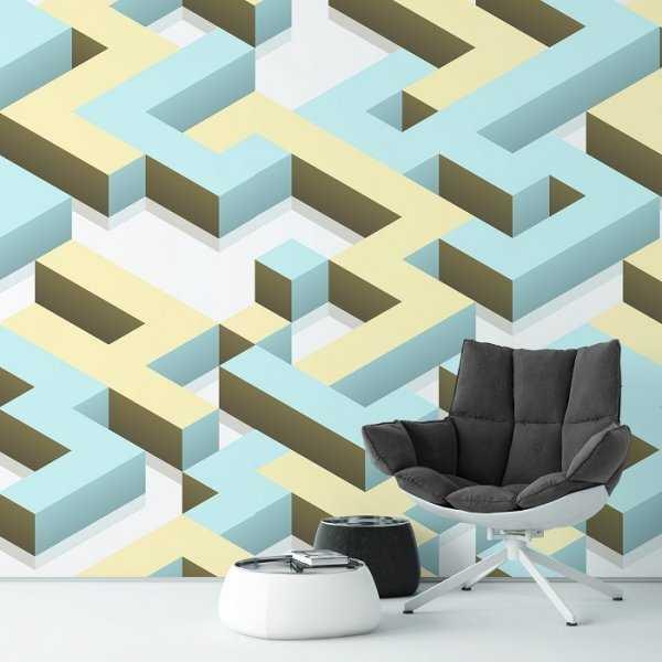 MAZE 3D - Tapeta ścienna