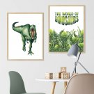 zestaw plakatów the world of dinosaurs