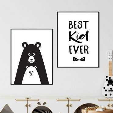 zestaw plakatów best kid ever