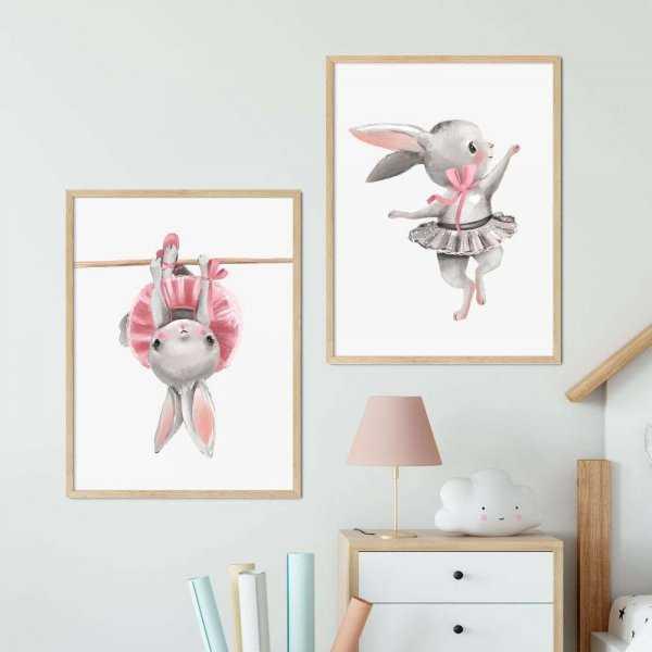 zestaw plakatów bunny gym