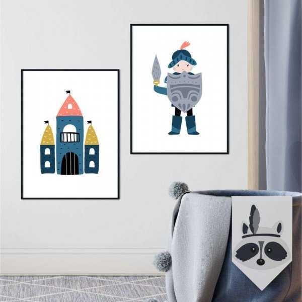 zestaw plakatów castle knight