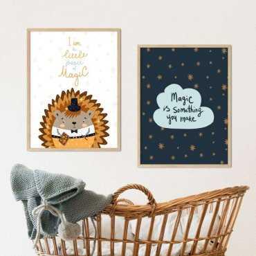 zestaw plakatów little magic