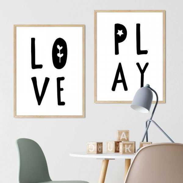 zestaw plakatów love play