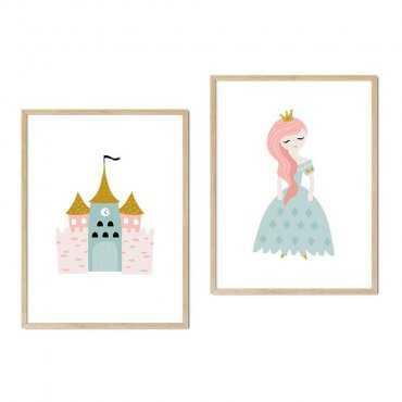 zestaw plakatów princess castle