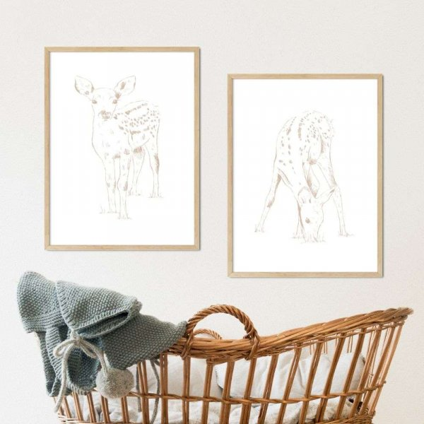 zestaw plakatów minimal deer