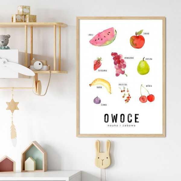 plakat edukacyjny z owocami