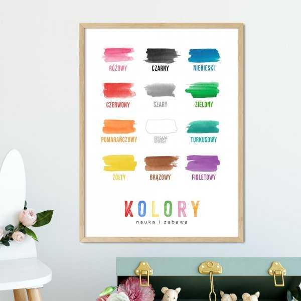 plakat edukacyjny z kolorami