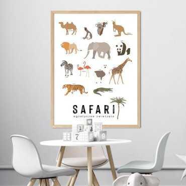 plakat edukacyjny - safari