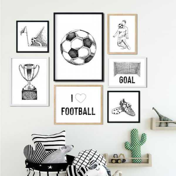 galeria plakatów i love football
