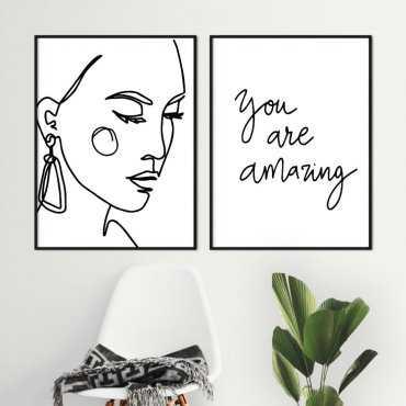 zestaw plakatów amazing woman