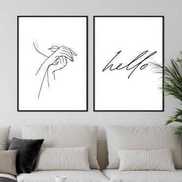 zestaw plakatów art beauty