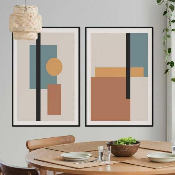 zestaw plakatów art of lines