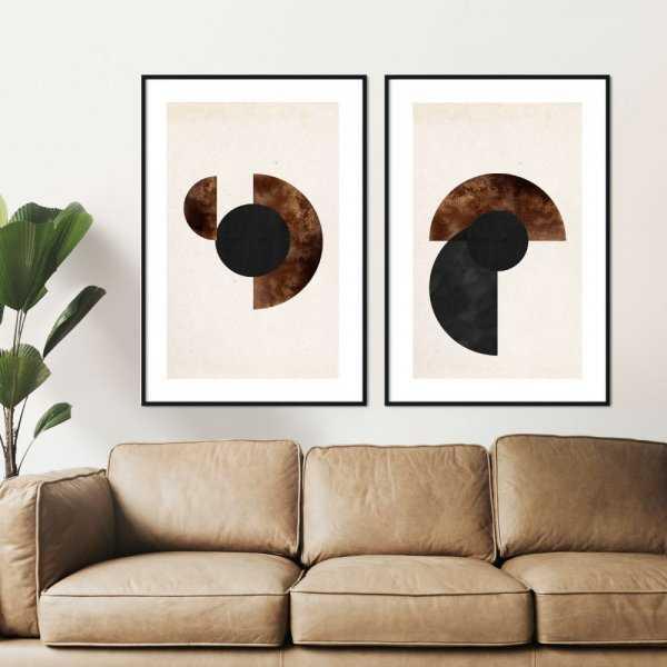 zestaw plakatów brownie shapes