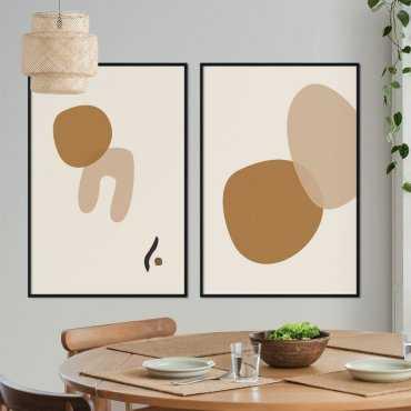 zestaw plakatów brownie stains