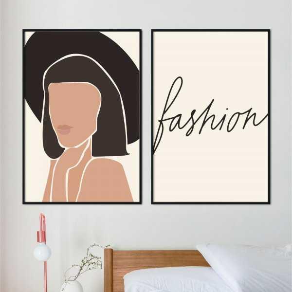 zestaw plakatów fashionable art