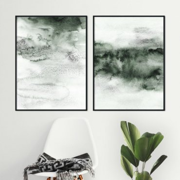 zestaw plakatów green clouds