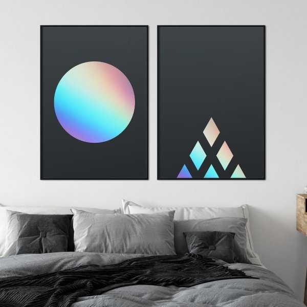 zestaw plakatów holoart