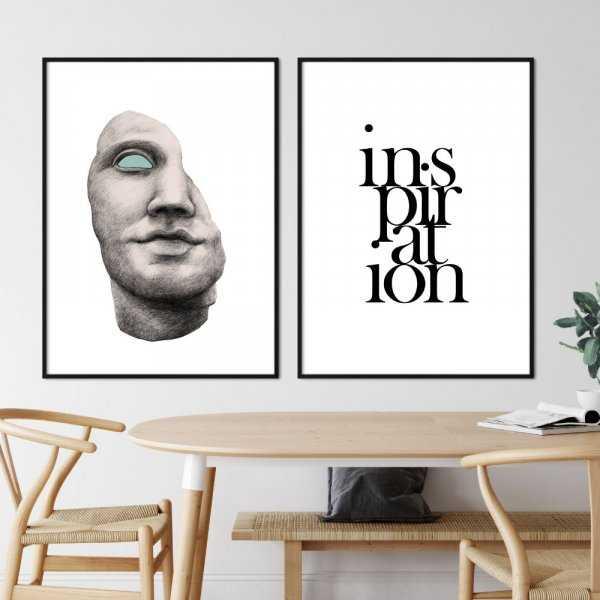 zestaw plakatów inspiration art