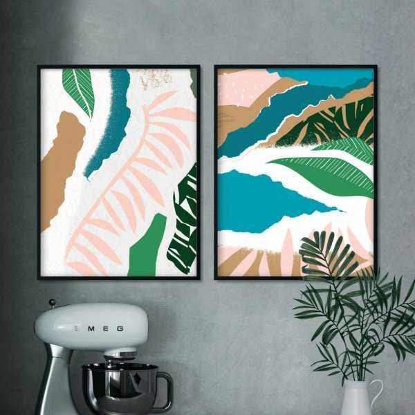 zestaw plakatów jungle rainbow