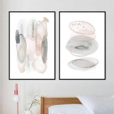 zestaw plakatów lovely shapes