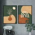 zestaw plakatów line art greenery