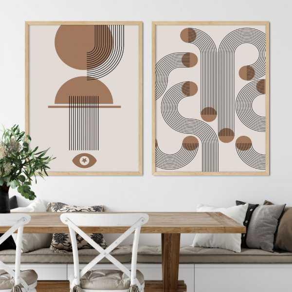 zestaw plakatów maze studio