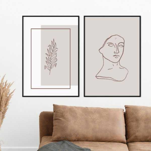 zestaw plakatów minimal era