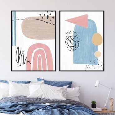 zestaw plakatów shape collage
