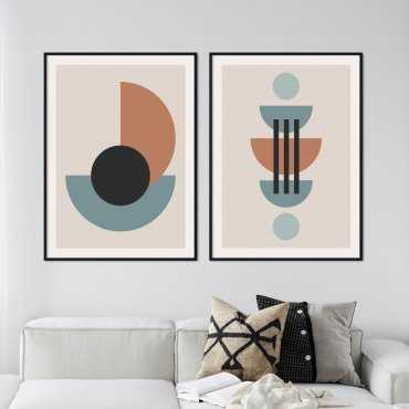 zestaw plakatów shaping circles