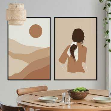zestaw sunset beauty plakaty