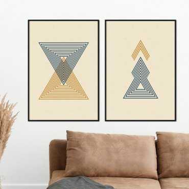 zestaw plakatów triangle infinity