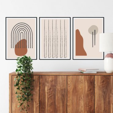 zestaw plakatów art composition